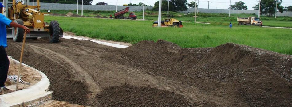 Base da pavimentação